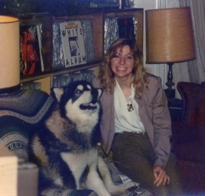 Suzae with Schook the Malamute
