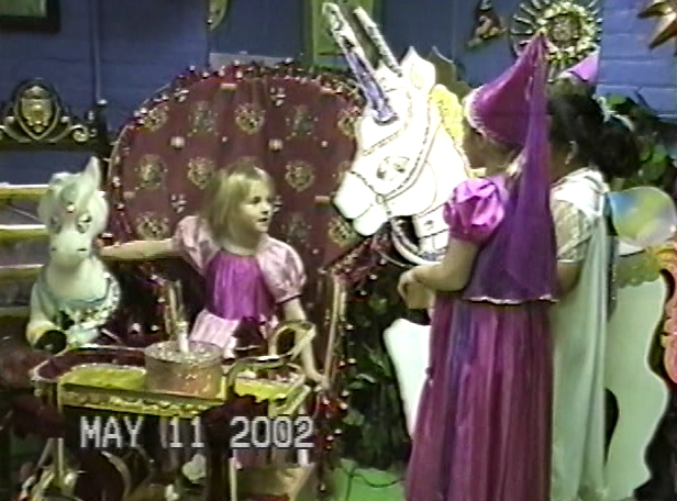 Earthanean child Elsie waiting to be crowned.