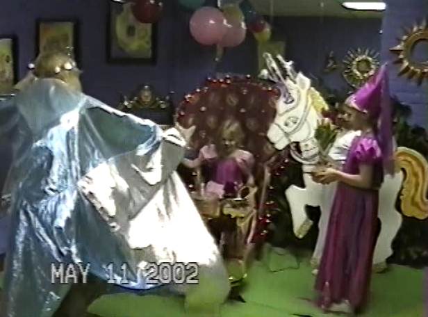 Razel enters to ruin Elsie's party.