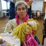 Auntie smug with all her dolls