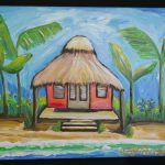 Hut painted at Maria's Studio Lake Worth, Florida